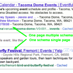 what event schemas look like in search results