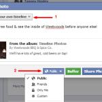 public share on Facebook