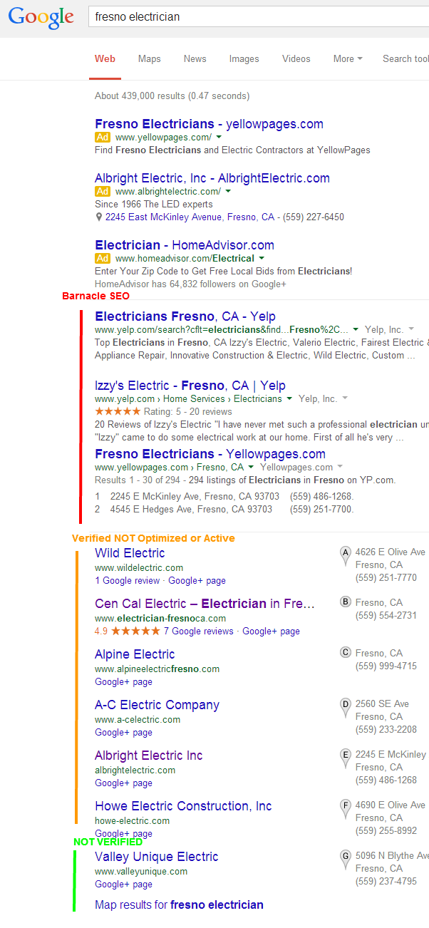 fresno local seo results